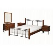 Μεταλλικά Κρεβάτια απο Ξύλο  Σίδερο Χονδρική (3)